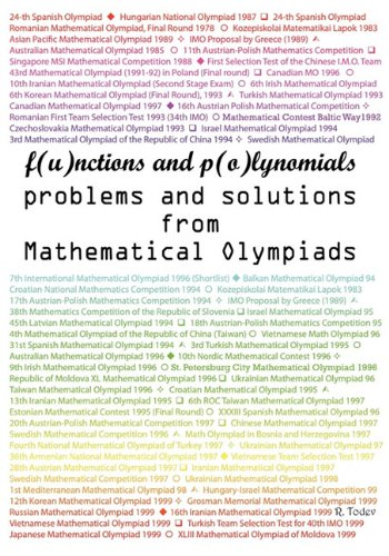 9780982771303: Functions and Polynomials problems and solutions from Mathematical Olympiads
