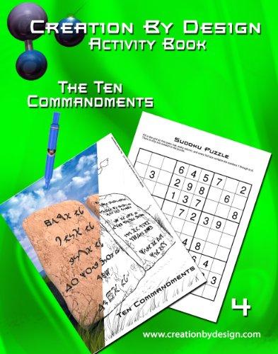9780982807736: Activity Book - The Ten Commandments (Creation By Design Activity Books)