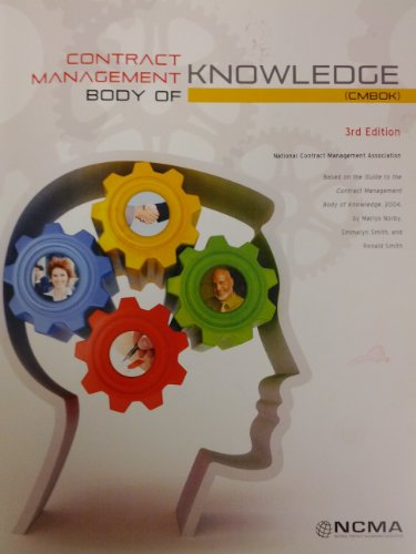 Contract Management Body of Knowledge 3.0: NCMA