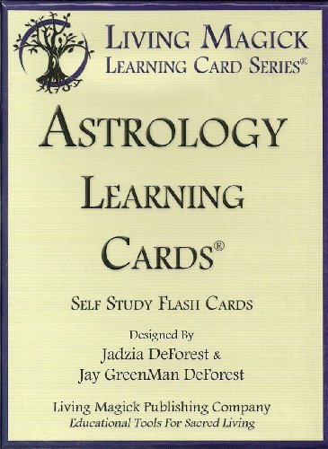 Astrology Learning Cards - Living Magick (Self Study Flash Cards): Jadzia DeForest