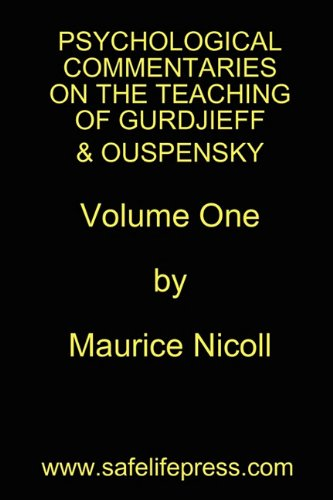 9780982965153: Psychological Commentaries on the Teaching of Gurdjieff & Ouspensky, Vol. 1