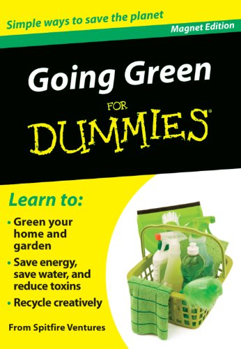 9780983010661: Going Green for Dummies: Simple Ways to Save the Planet (Refrigerator Magnet Books for Dummies)