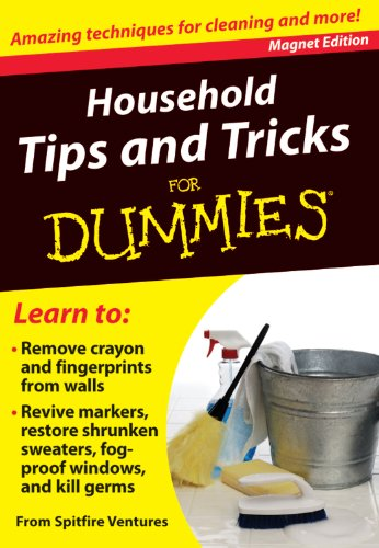 Household Tips and Tricks for Dummies: Amazing Techniques for Cleaning and More! [With Magnet(s)] (...