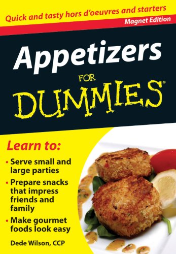 9780983010739: Appetizers for Dummies: Quick and Tasty Hors d'Oeuvres and Starters (Refrigerator Magnet Books for Dummies)