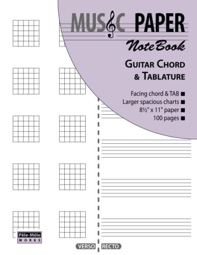 9780983049883: Music Paper Notebook - Guitar Chord & Tablature