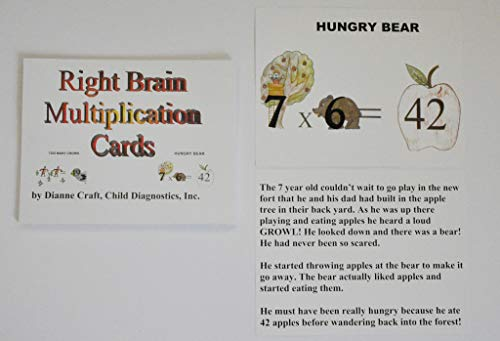 9780983084037: Right Brain Multiplication Cards by Dianne Craft (2002) Loose Leaf