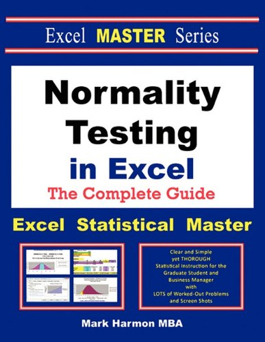9780983307075: Normality Testing in Excel - The Excel Statistical Master
