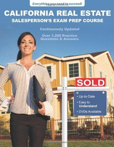 9780983361114: California Real Estate Salesperson's Exam Prep Course by Access License Schools (2015-08-02)