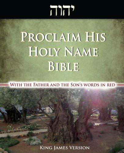 Proclaim His Holy Name Bible-KJV-Enhanced Red Letter