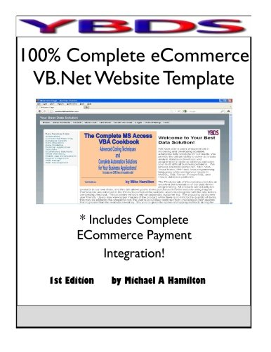 9780983417422: 100% Complete Ecommerce VB.Net Website Template