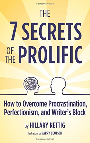 The 7 Secrets of the Prolific: The Definitive Guide to Overcoming Procrastination, Perfectionism, and Writer's Block 9780983645405 Can't finish your written work? Can't start it? Constantly missing deadlines and opportunities? The 7 Secrets of the Prolific has the solutions you need! In it, author Hillary Rettig shows how fear, scarcity, ambivalence, and other inner obstacles trigger a Disempowerment Cascade that can derail even the most dedicated and experienced writer. How perfectionism plays a more serious role in underproductivity than most writers realize. And how some criticisms and rejections can linger, hidden, for years and even decades, undermining your productivity. Then she shows you how to interrupt the Cascade, recognize and defuse the perfectionism, and recover from the criticisms and rejections so that you can regain your energy and commitment and do more great writing than you might have ever thought possible. Unlike the superficial and gimmicky solutions some other books offer, Hillary's are based on a new way of looking at yourself, your work, and the world. She developed her method over more than a decade of teaching at some of the country's premier literary and cultural organizations, including Mark Twain House & Museum, Grub Street Writers, and The Loft, and while coaching hundreds of successful creative, business, and academic writers. The 7 Secrets of the Prolific also features unique and timely sections on writing for the Internet (and coping with its hypercritical culture), and how to respond to the many clueless and/or challenging comments and questions people direct at writers (e.g., 'When will you get that thing done?'). And the section on Values-Based Time Management will help you reclaim time for your writing (and other priorities) you never knew you had. Whether you write for work, school, or fun, The 7 Secrets of the Prolific will help you become the productive, fulfilled, and joyful writer you always wanted to be.