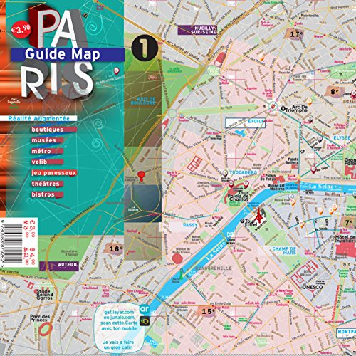 9780983879282: Paris Guide Laminated Map (English and French Edition)