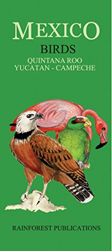 9780984010745: Mexico Caribbean Regions Birds Guide (Laminated Foldout Pocket Field Guide) (English and Spanish Edition)