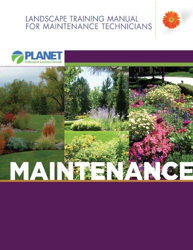 9780984021925: Landscape Training Manual for Maintenance Technicians