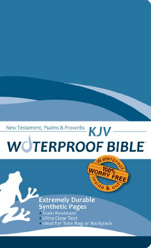 9780984085712: Waterproof Durable New Testament with Psalms and Proverbs-KJV-Blue