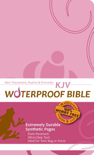 9780984085729: Waterproof New Testament with Psalms and Proverbs-KJV-Pink