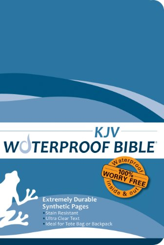 Waterproof Bible - KJV - Blue: Bardin & Marsee Publishing