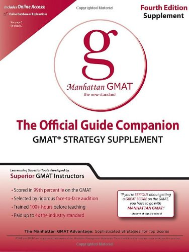 9780984178018: Official Guide Companion (Manhattan GMAT Prep)