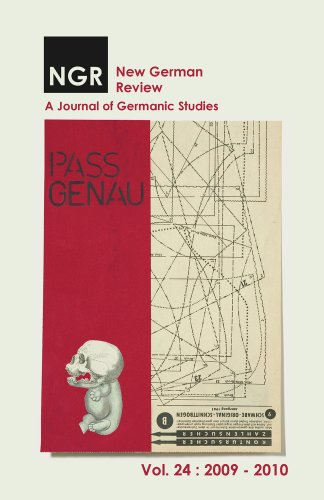 New German Review: A Journal of Germanic Studies (Volume 24): Edwards, Timothy