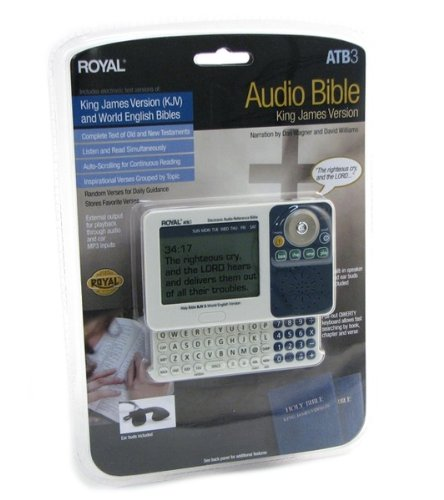9780984289424: KJV/WEB Royal Electronic Bible & KJV Audio Bible Player With Pull-Out Keyboard