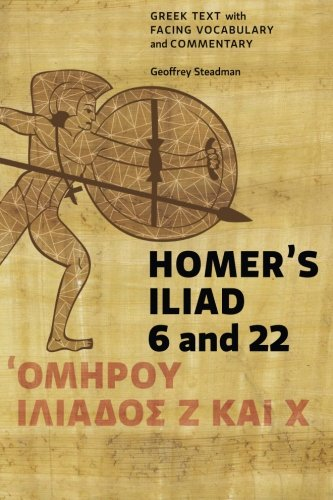 9780984306596: Homer's Iliad 6 and 22: Greek Text with Facing Vocabulary and Commentary
