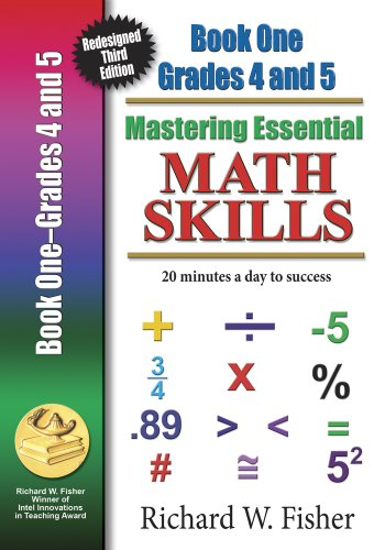 9780984362905: Mastering Essential Math Skills Book 1 Grades4-5 with DVD: Redesigned Library Version