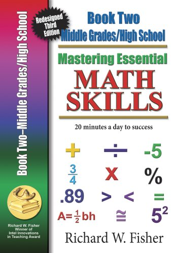 9780984362912: Mastering Essential Math Skills Book 2 Middle Grades/High School New Redesigned Library Version with companion DVD