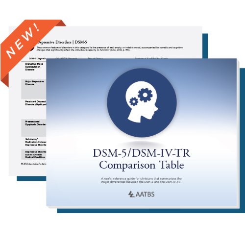 9780984373093: AATBS DSM-5/DSM-IV TR Comparison Table