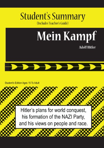 9780984536177: Mein Kampf Analysis and Summary(student's and Teacher's Edition)