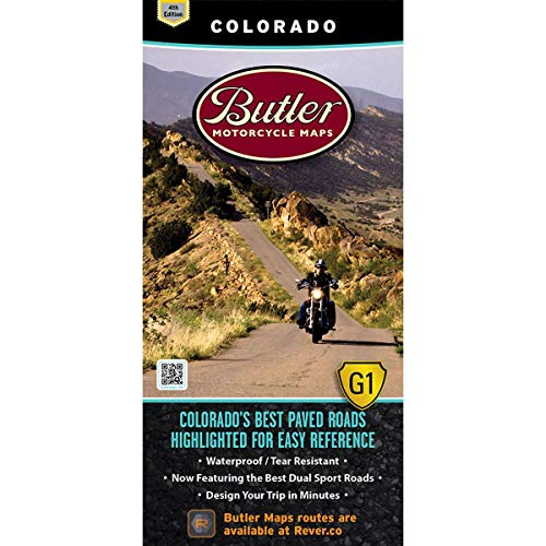 9780984559008: Butler Maps: Colorado Motorcycle Map - Printed motorcycle maps for riders by riders!