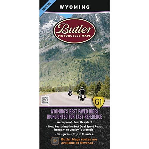 9780984559039: Wyoming Motorcycle Map (Butler Motorcycle Maps)