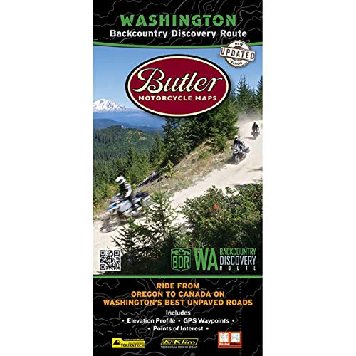 Washington Backcountry Discovery Route Motorcycle Map: Butler Motorcycle Map