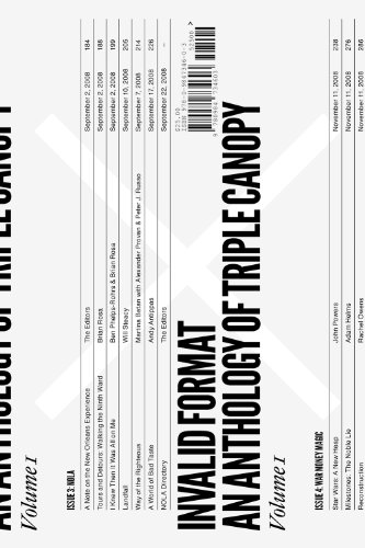 9780984734603: Invalid Format: An Anthology of Triple Canopy, Vol. 1