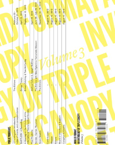 9780984734634: Invalid Format: An Anthology of Triple Canopy: 3