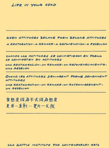 9780984960927: When Attitudes Became Form Become Attitudes