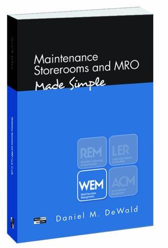 Maintenance Storerooms and MRO - Made Simple: Daniel M. DeWald