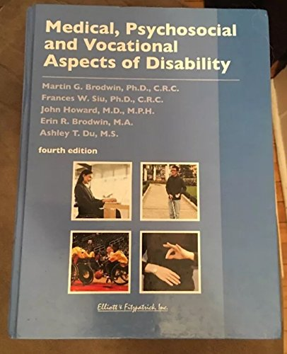 9780985553890: Medical, Psychosocial and Vocational Aspects of Disability