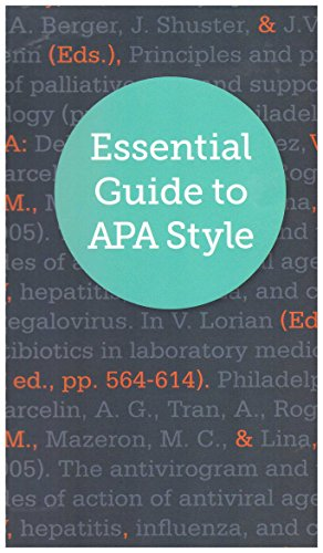 9780985586706: Essential Guide to APA Style
