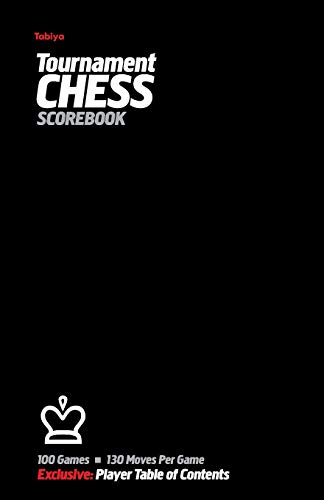9780985644239: Tabiya Tournament Chess Scorebook: Cover Style: Black