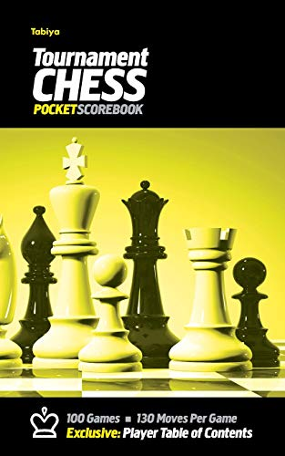 9780985644277: Tabiya Tournament Chess Pocket Scorebook: Cover Style: Black with Yellow Graphic