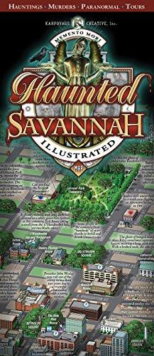 9780985653231: Haunted Savannah Illustrated Map