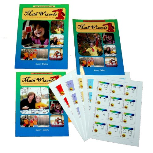 9780985987848: Math Wizards Three Book Set - Math Wizards: A Fun, Family-Centered Approach to Mastering the Times Tables