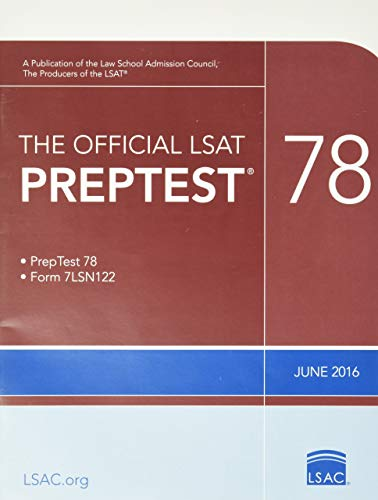 9780986086250: The Official LSAT PrepTest 78: (June 2016 LSAT)