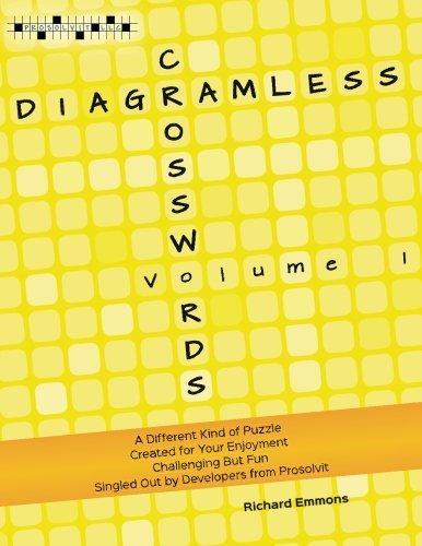 Diagramless Crosswords (Volume 1): Emmons, Richard