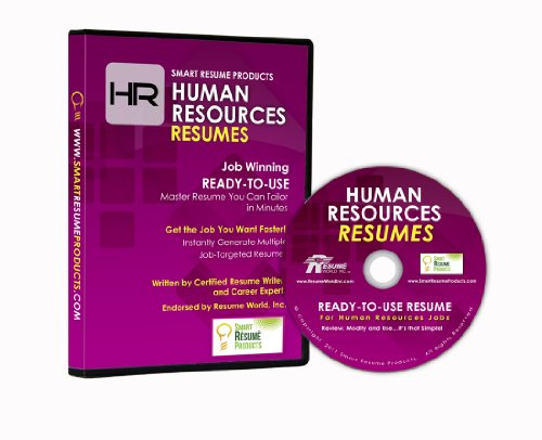 9780987820471: Human Resources Resumes: Master Resume for HR Professionals. Written By Certified Resume Writers and Career Experts. Endorsed By Resume World. (Ready-to-Use for HR Jobs)