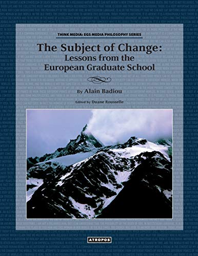 9780988517028: The Subject of Change: Lessons from the European Graduate School