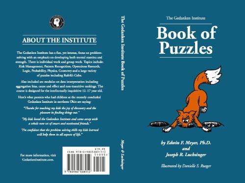 9780988588912: The Gedanken Institute Book of Puzzles