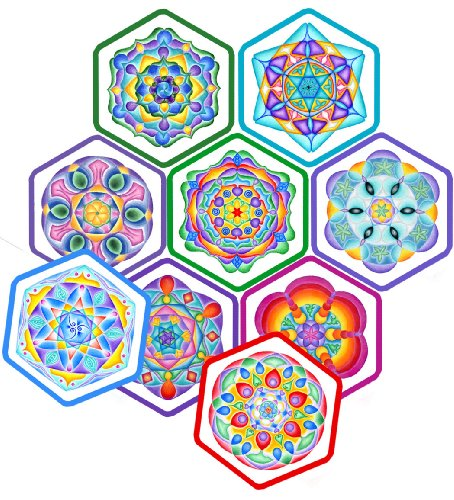 9780988854512: Solfeggio Mandala Meditation Cards: The Earthly Frequencies