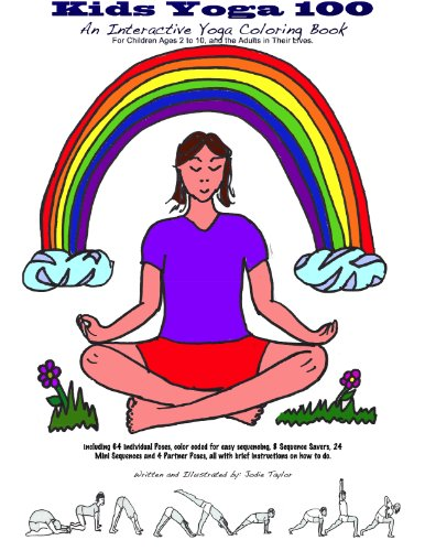 9780988970809: Kids Yoga 100 : An Interactive Yoga Coloring Book