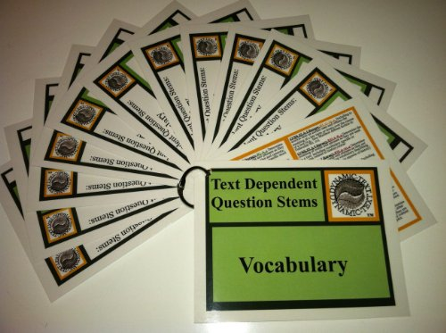 9780988971660: 4-PACK Text-Dependent Question Stems: VOCABULARY, READING APPLICATION, LITERARY ANALYSIS; INFORMATIONAL TEXT & RESEARCH PROCESS